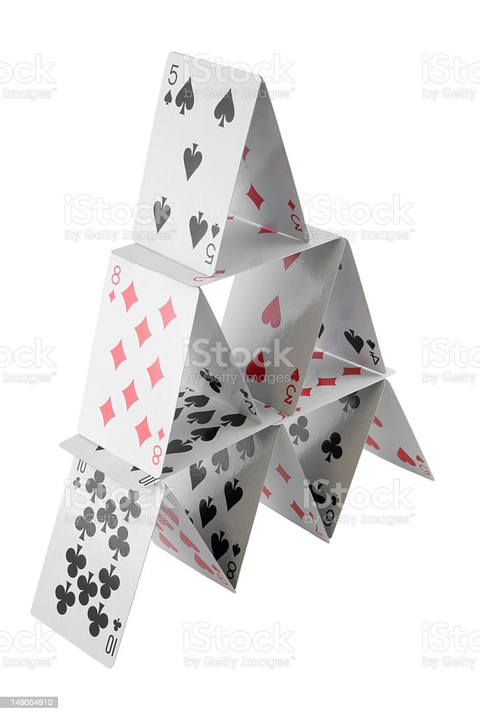 Playing Card Pyramid stock photo