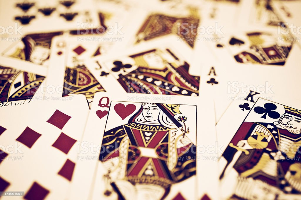Playing Card Royalty stock photo