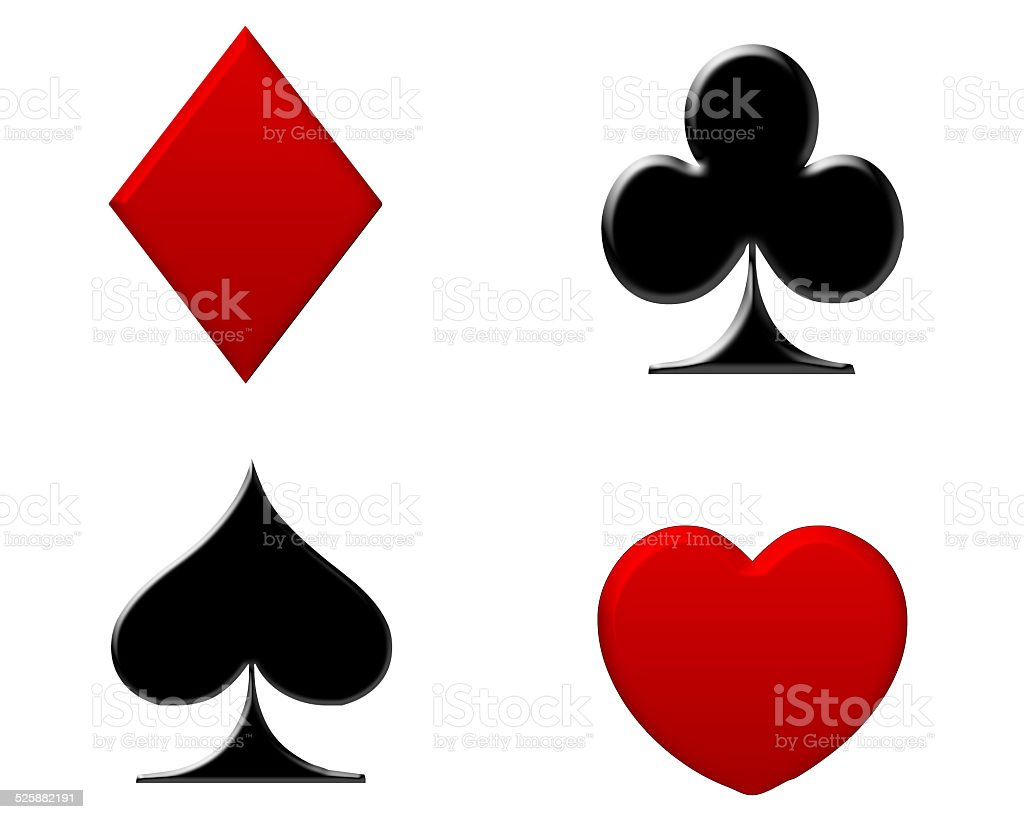 Playing Card Symbols stock photo