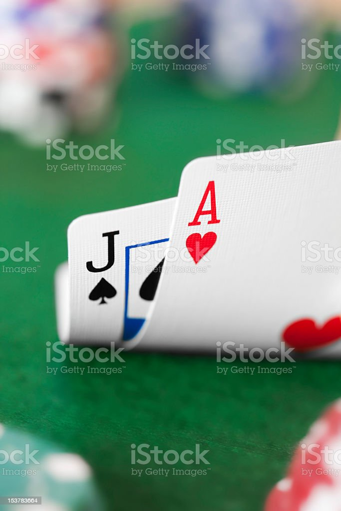 Playing Cards - Ace and Jack royalty-free stock photo