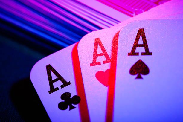 Jeu de cartes colorées aces - Photo