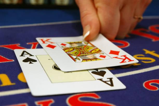 spelkort casino - black jack bildbanksfoton och bilder