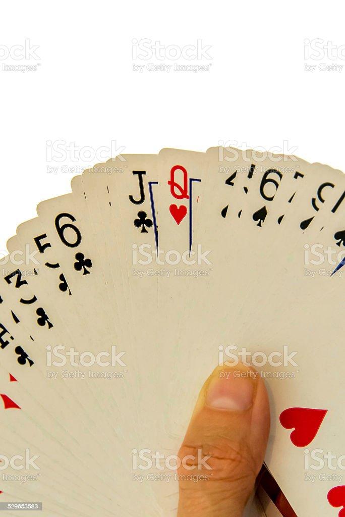 Playing Cards Con Terraza Frente Abrir En Abanico Foto De