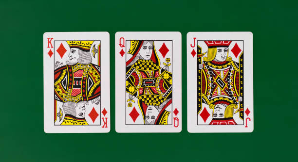 Playing Cards full deck green with plain background mockup casino poker stock photo