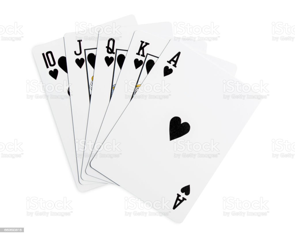 Playing cards - isolated on white stock photo