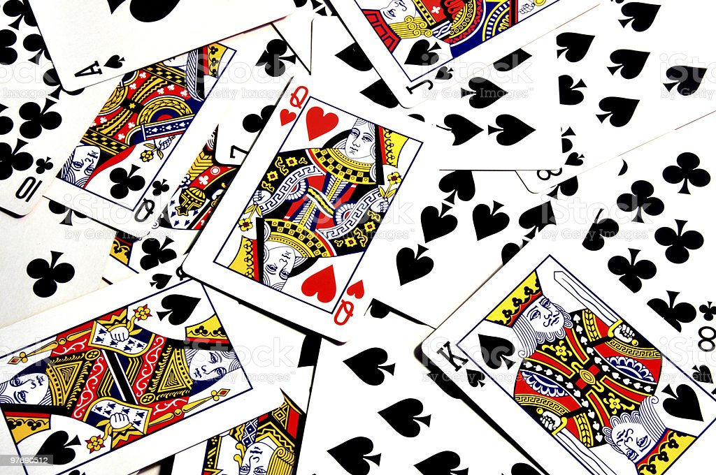 Playing cards on the table royalty-free stock photo
