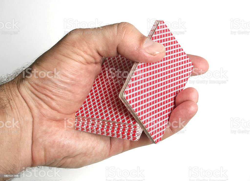 Playing cards tricks focuses stock photo