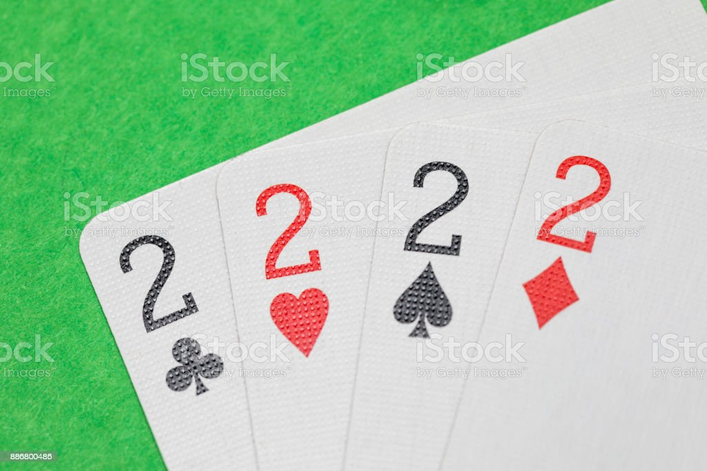 Playing Cards Twos stock photo