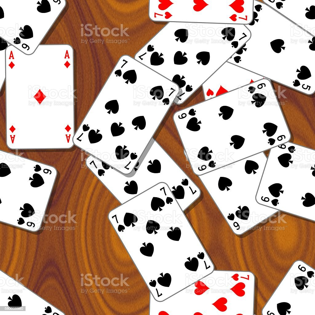 playing cards wooden seamless background stock photo