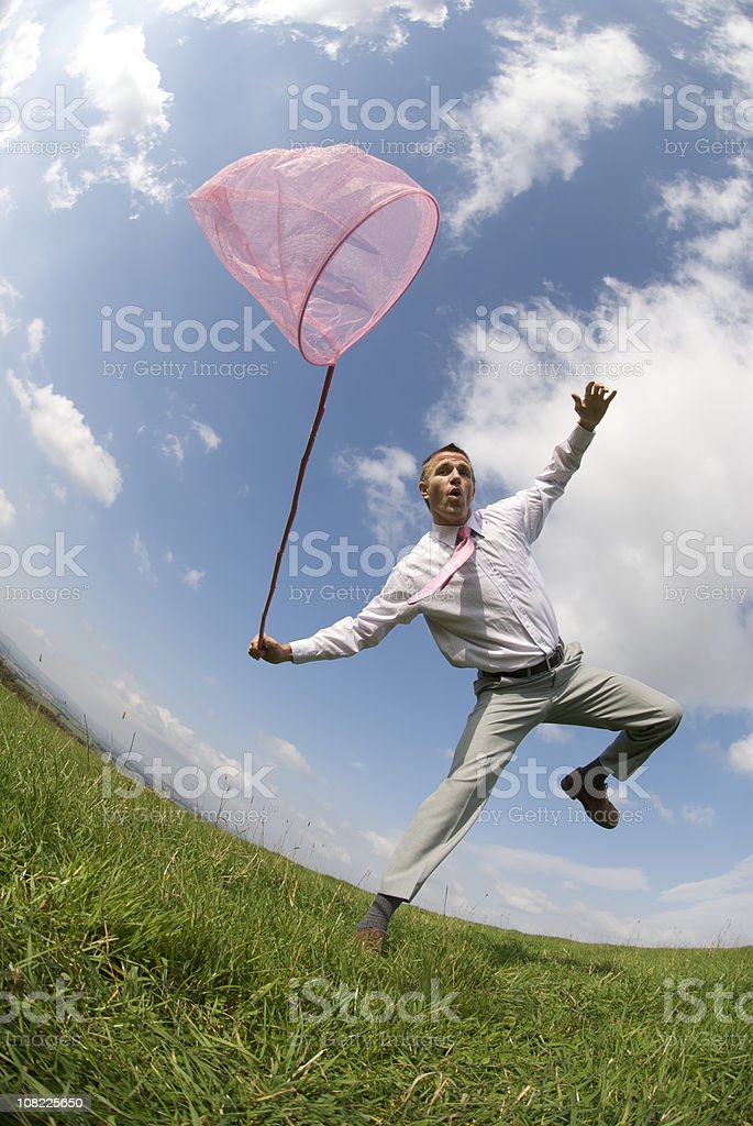 Playing Catch Up stock photo
