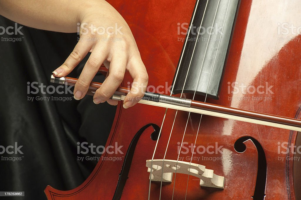 Playing Cello stock photo