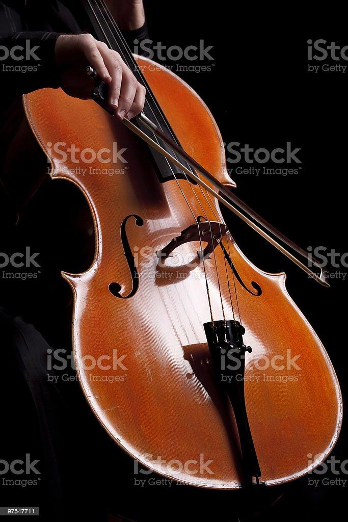 Playing cello royalty-free stock photo