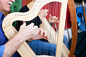 Playing Celtic Lap Harp.