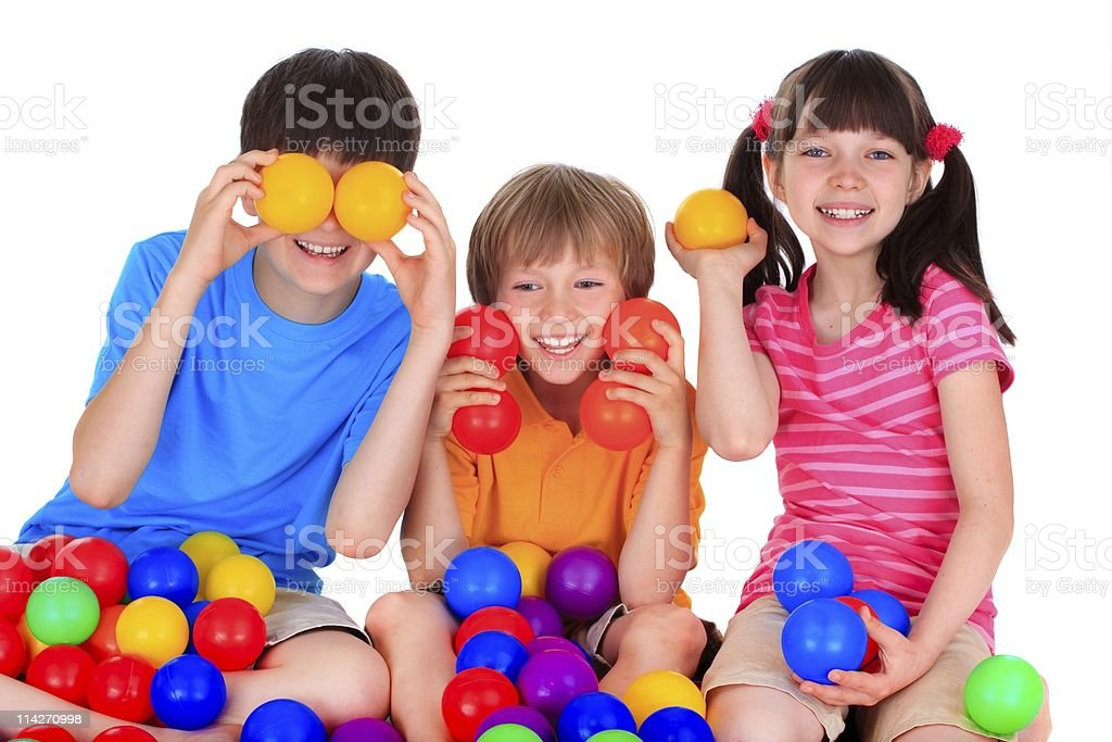 Playing Children royalty-free stock photo
