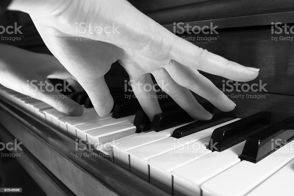 Playing Classical Music royalty-free stock photo