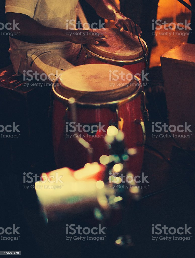 playing congas stock photo