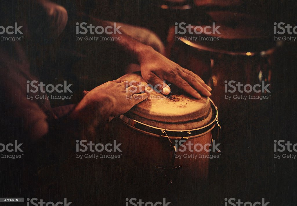 playing congas royalty-free stock photo
