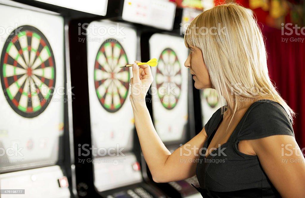 Playing darts. royalty-free stock photo