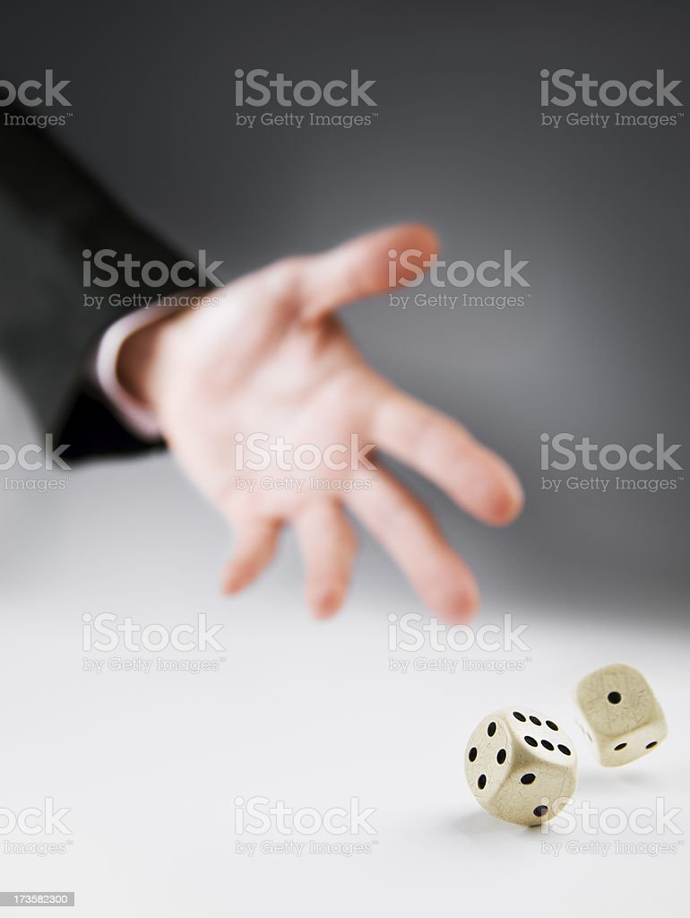 Playing Dice stock photo
