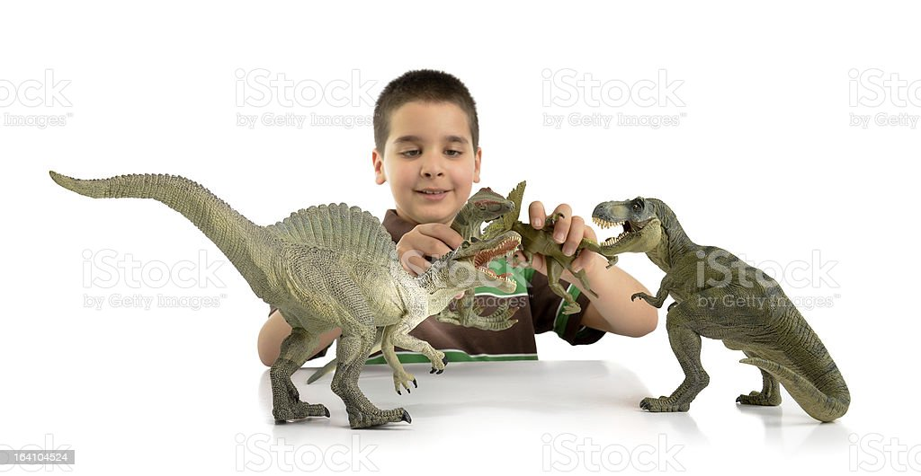 Playing Dino royalty-free stock photo