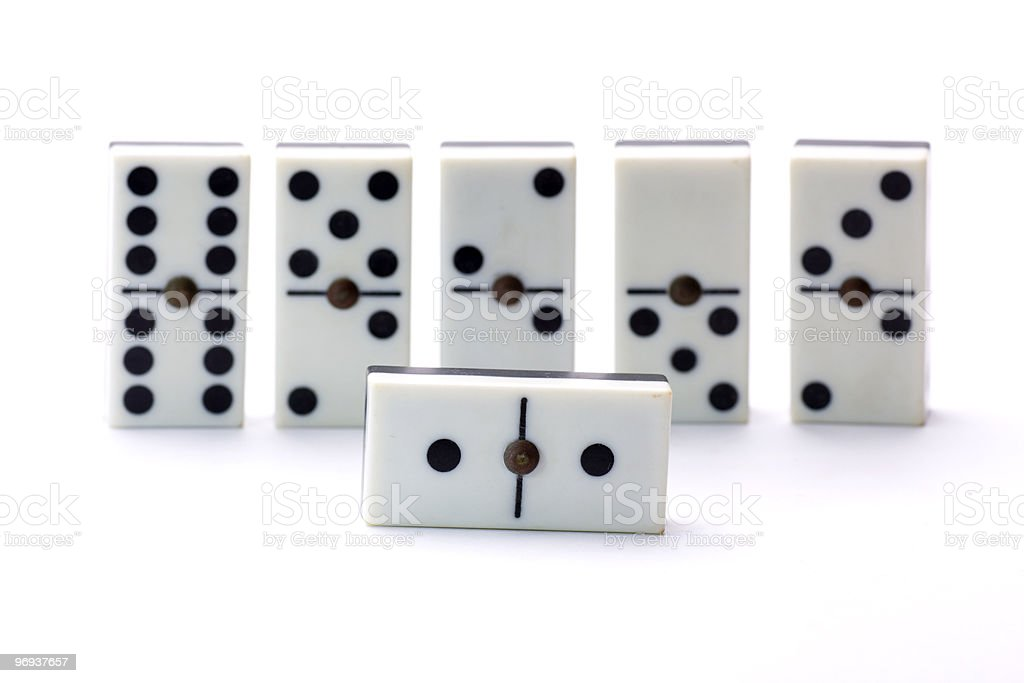 playing dominoes royalty-free stock photo