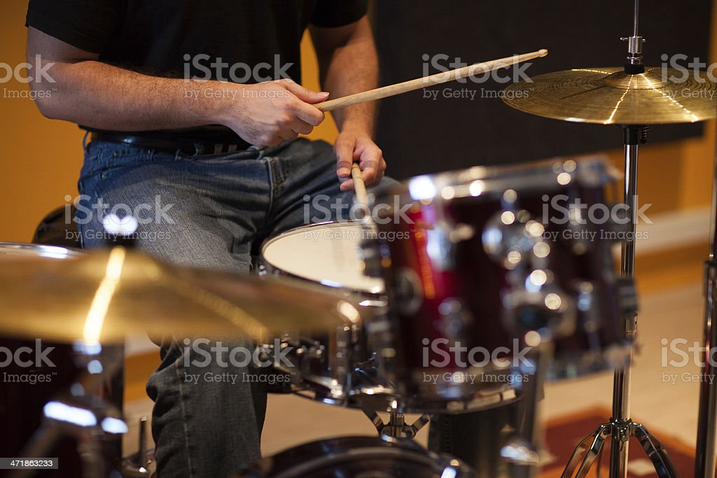 Playing Drums stock photo