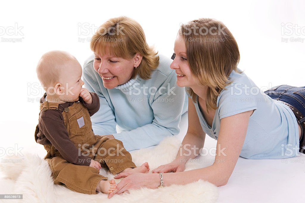 Playing Family royalty free stockfoto