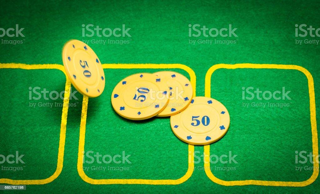 Playing field for poker zbiór zdjęć royalty-free