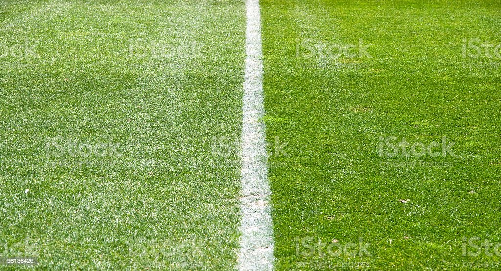 Playing field stock photo