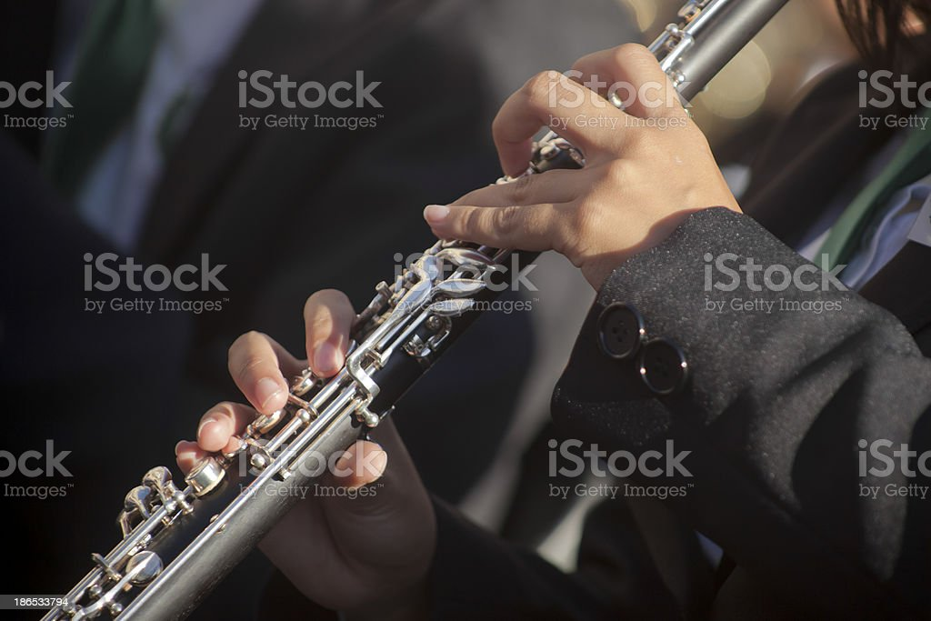 Playing flute royalty-free stock photo