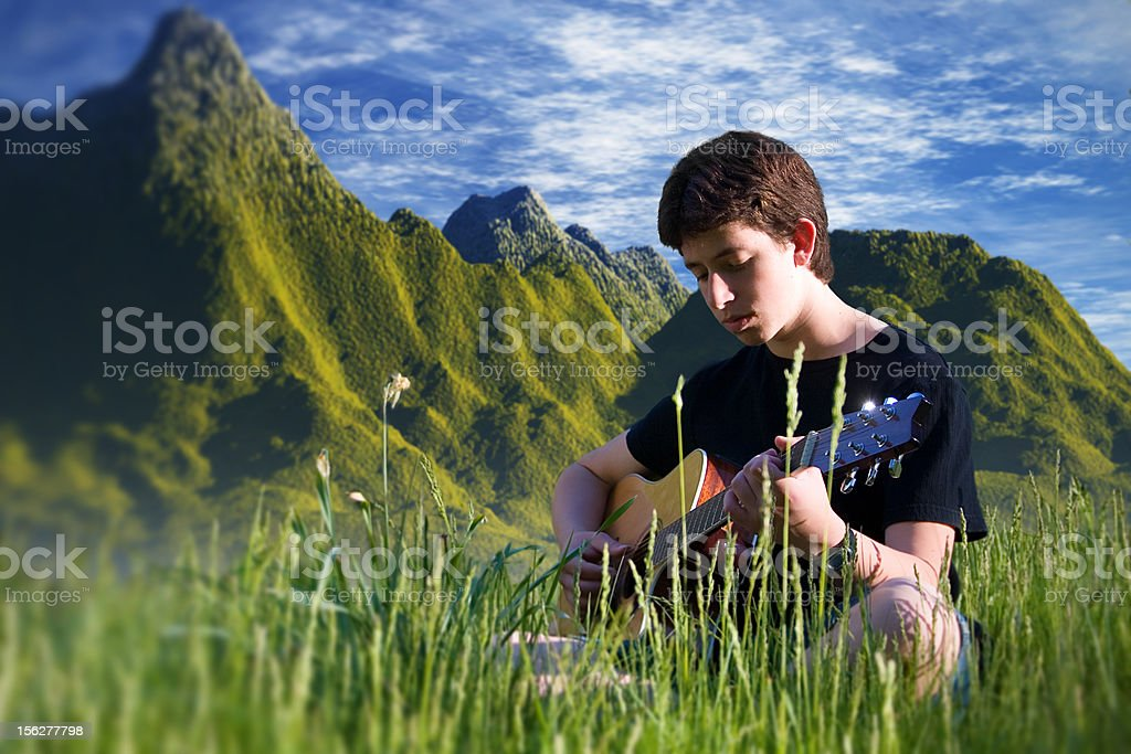 Playing for the world royalty-free stock photo