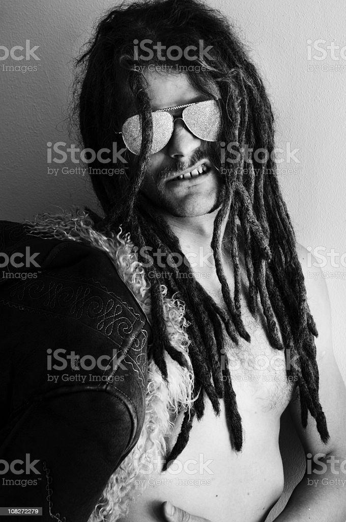 playing Frank Zappa stock photo