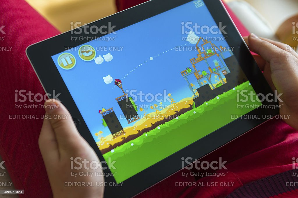 Playing game royalty-free stock photo