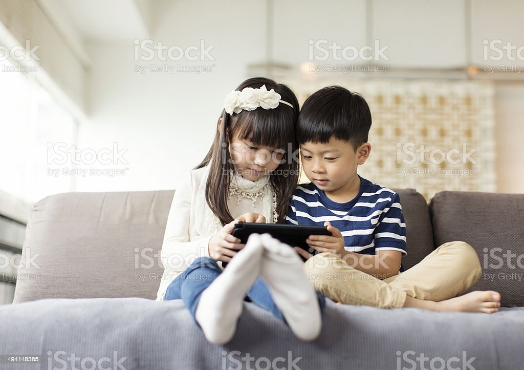 Playing Games royalty-free stock photo