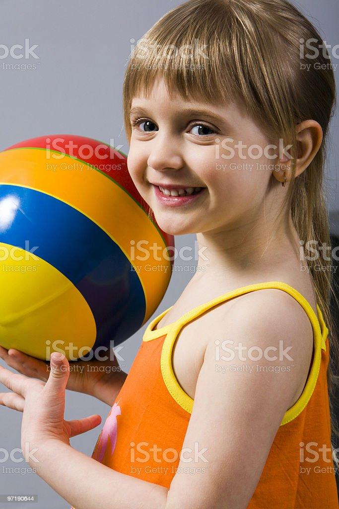 Playing girl royalty-free stock photo