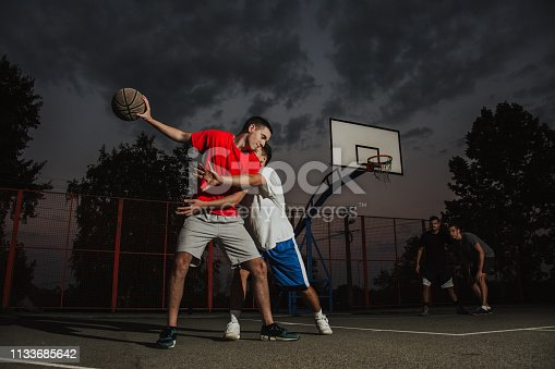 istock Playing good defense 1133685642