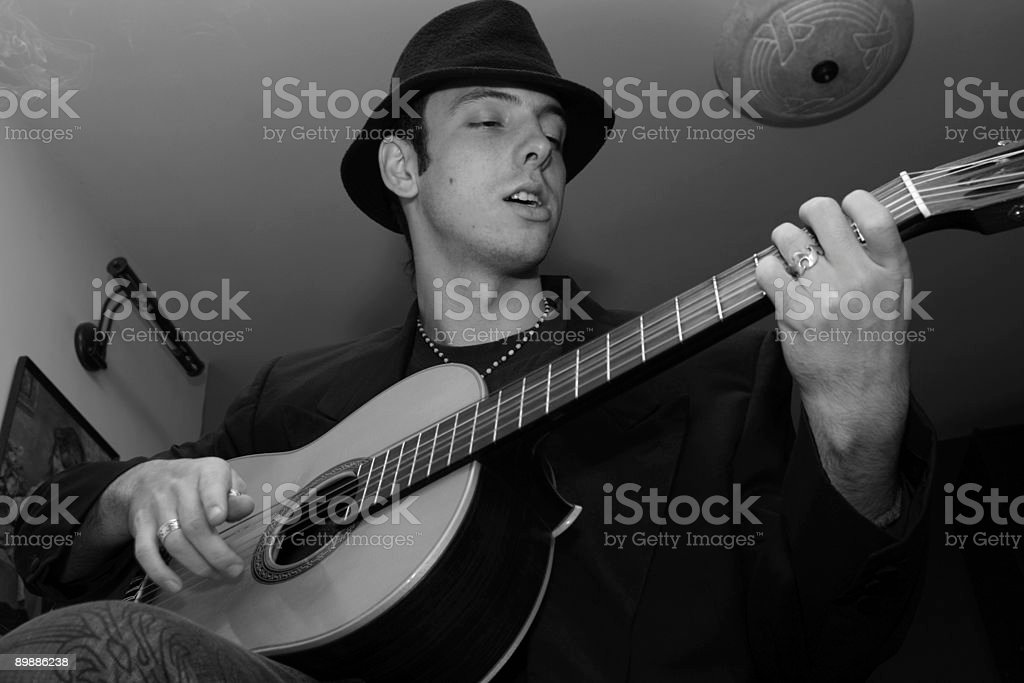 playing guitar... royalty-free stock photo