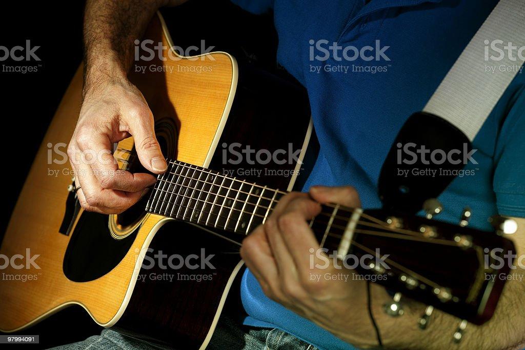 Playing guitar royalty free stockfoto
