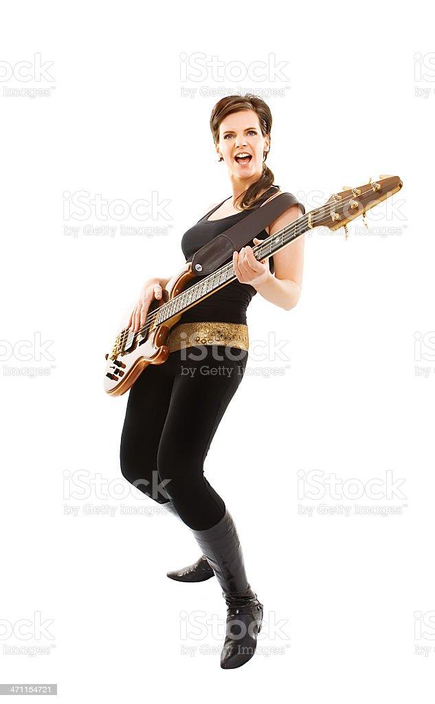 playing guitar woman stock photo