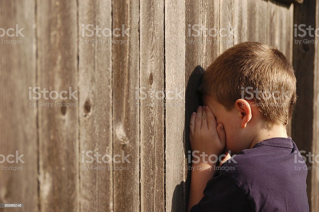 Playing Hide and Seek royalty-free stock photo