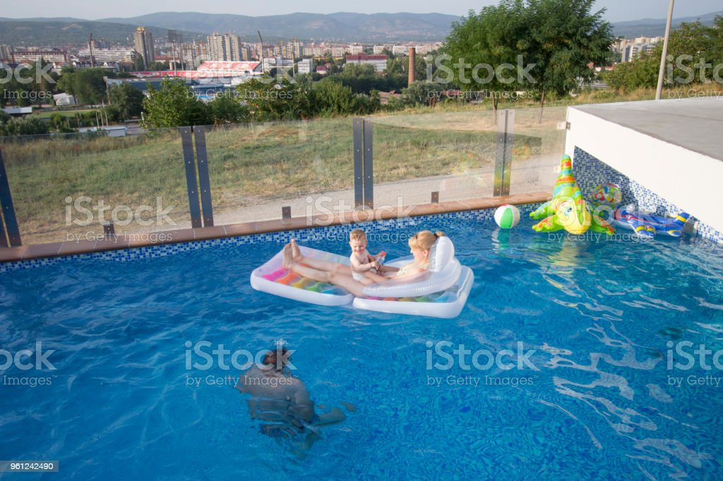 Playing Hiding Game In The Pool Stock Photo & More Pictures ...