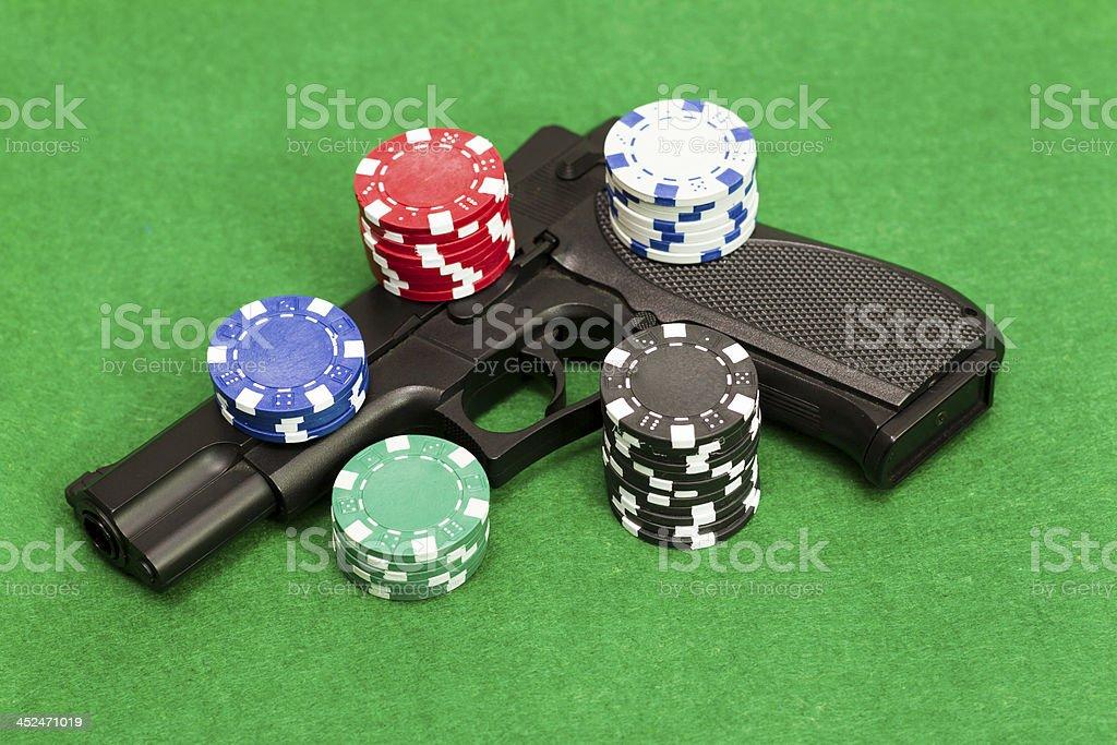 Playing illegal gambling royalty-free stock photo
