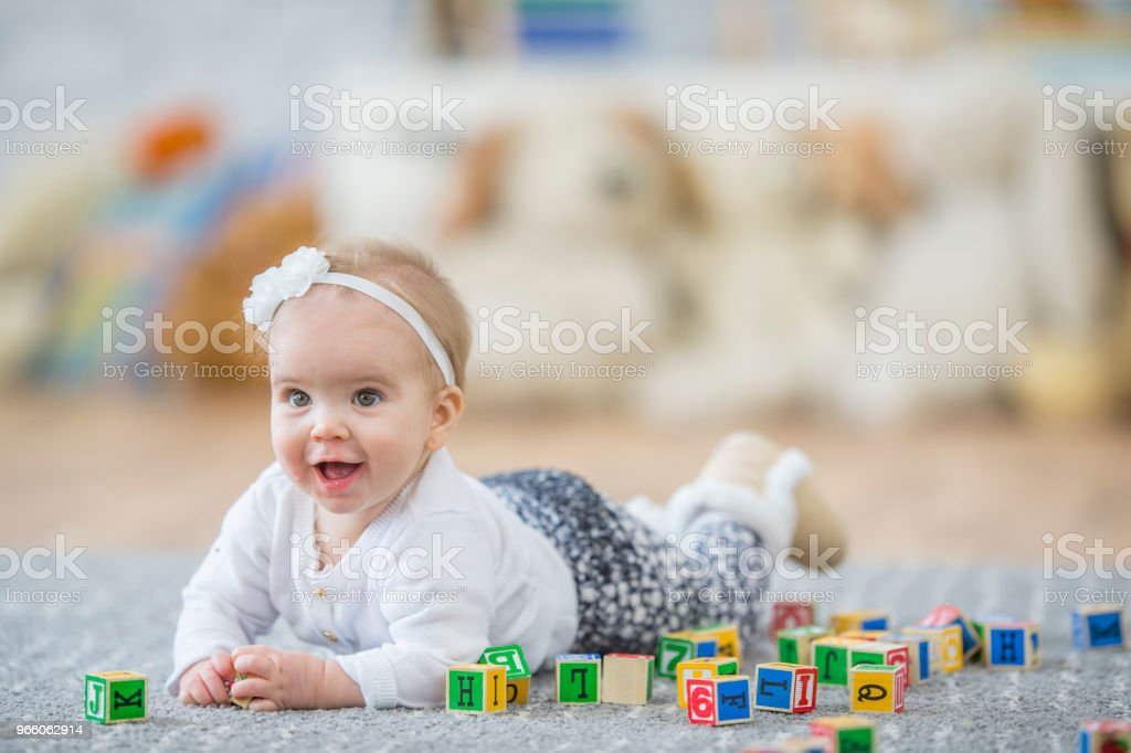 Playing In A Daycare - Royalty-free 12-23 Months Stock Photo