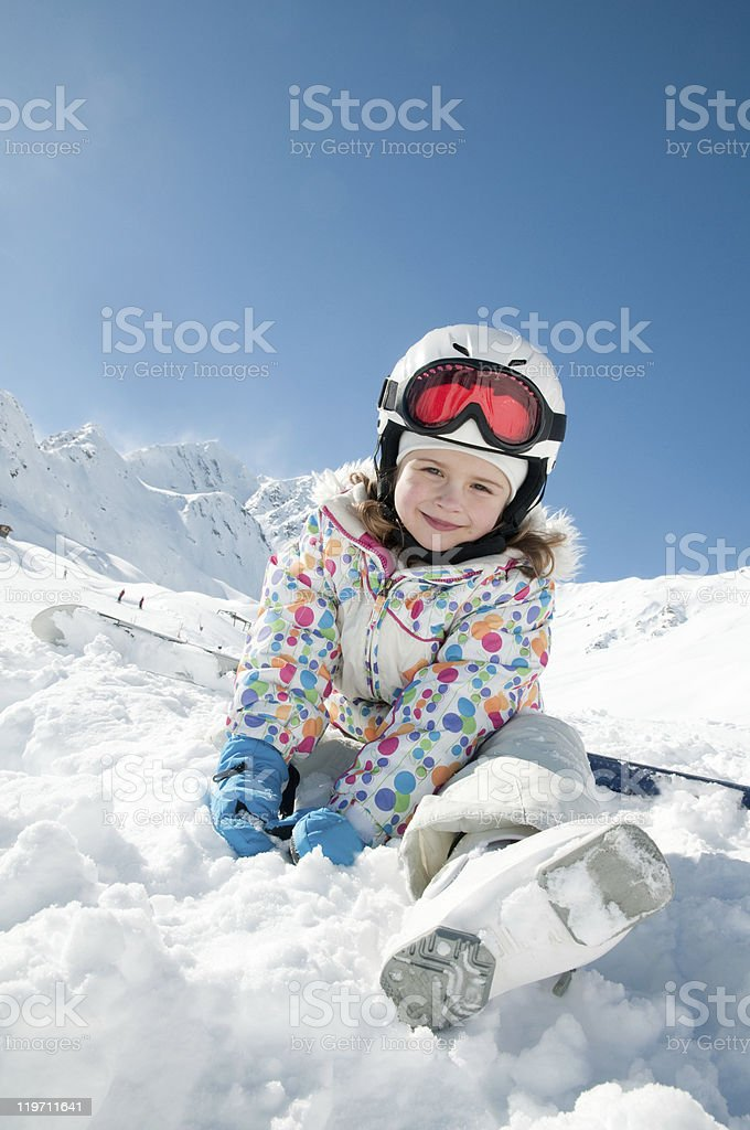 Playing in snow royalty-free stock photo