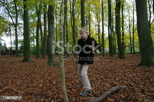 515278306 istock photo Playing in the forest 1186783717