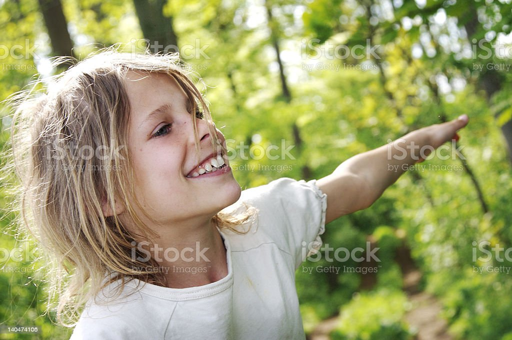 playing in the forest royalty-free stock photo