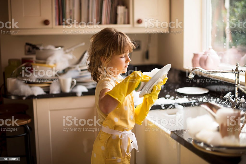 playing in the kitchen foto
