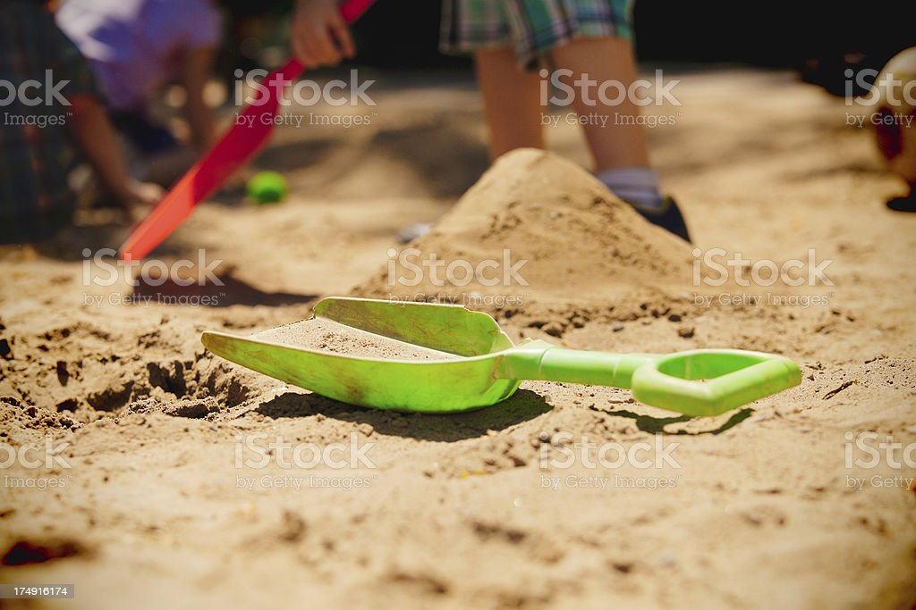 Playing in the Sandbox stock photo
