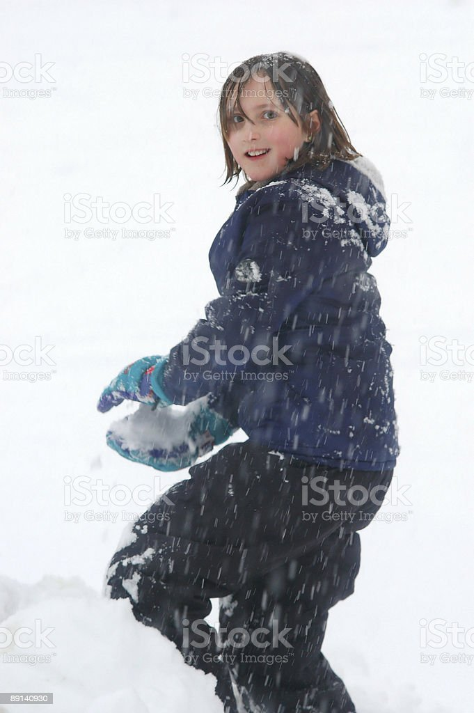 Playing in the snow 2 royalty-free stock photo