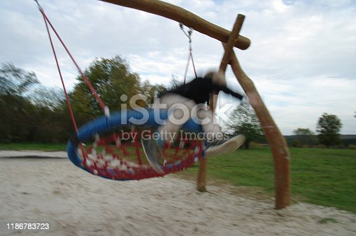 515278306 istock photo Playing in the swing set 1186783723